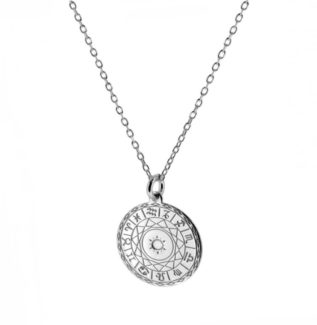 Collar zodiaco en plata de primera ley