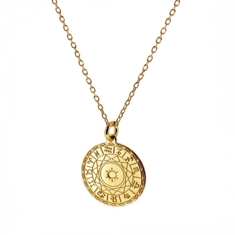 Collar zodiaco plata bañada en oro