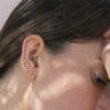 Pendientes luna mini, pendientes estrella mini y pendientes aro con rayo plata bañada en oro