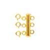 Broche triple plata bañada en oro