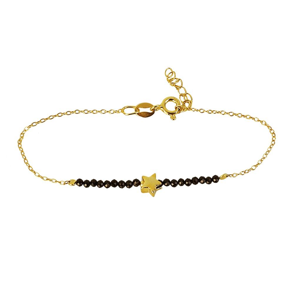 59c31a14d976 Pulsera estrella con piedra semipreciosa plata bañada en oro