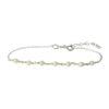 Pulsera rosario con piedra semipreciosa en plata Perla