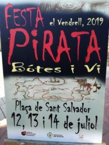 Festa Pirata Botes i Vi de Sant Salvador 2019 cartell
