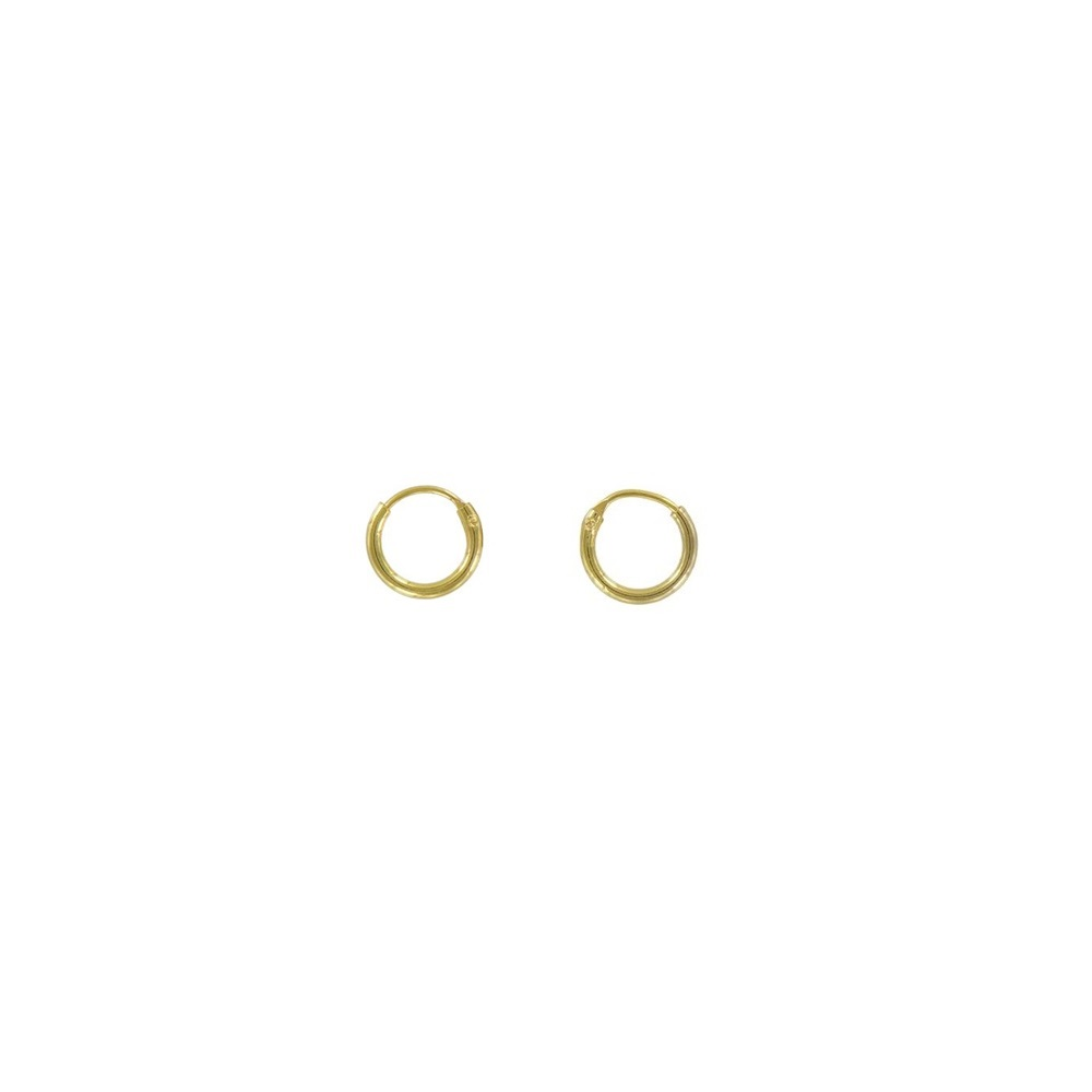 Pendientes aro 8mm plata bañada en oro