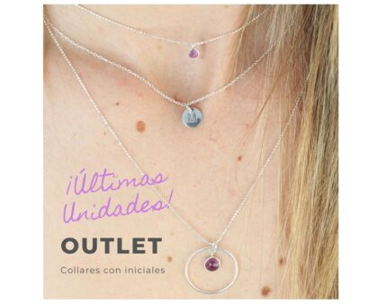 OUTLET Collar Placa con inicial