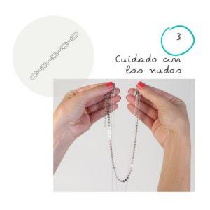9 Consejos para el cuidado de tus joyas 3 Vigila con los nudos