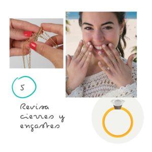 9 Consejos para el cuidado de tus joyas 5 Revisa cierres y engastes
