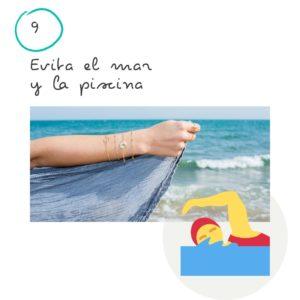 9 Consejos para el cuidado de tus joyas 9 Evita el mar y la piscina