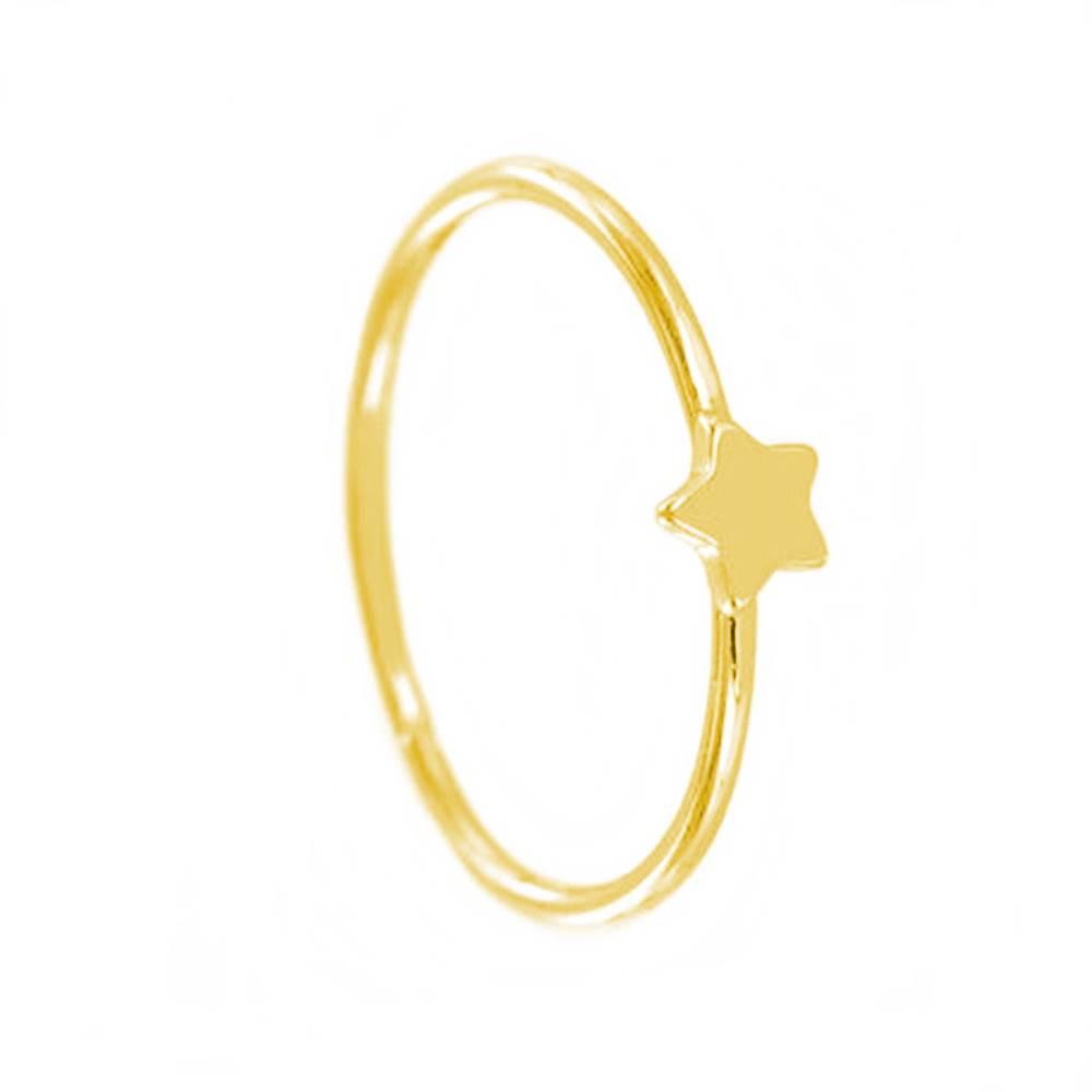 Anillo estrella plata bañada en oro