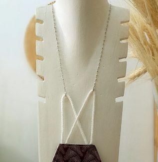 Colgador mascarilla gafas rosario perla en plata