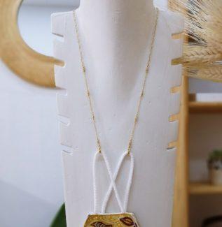 Colgador mascarilla gafas zirconitas plata bañada en oro