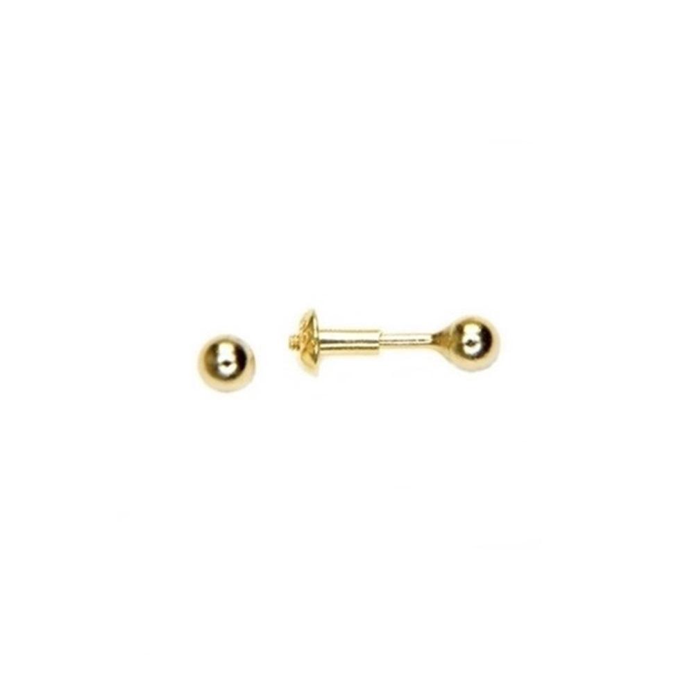 Pendientes piercing bola plata bañada en oro
