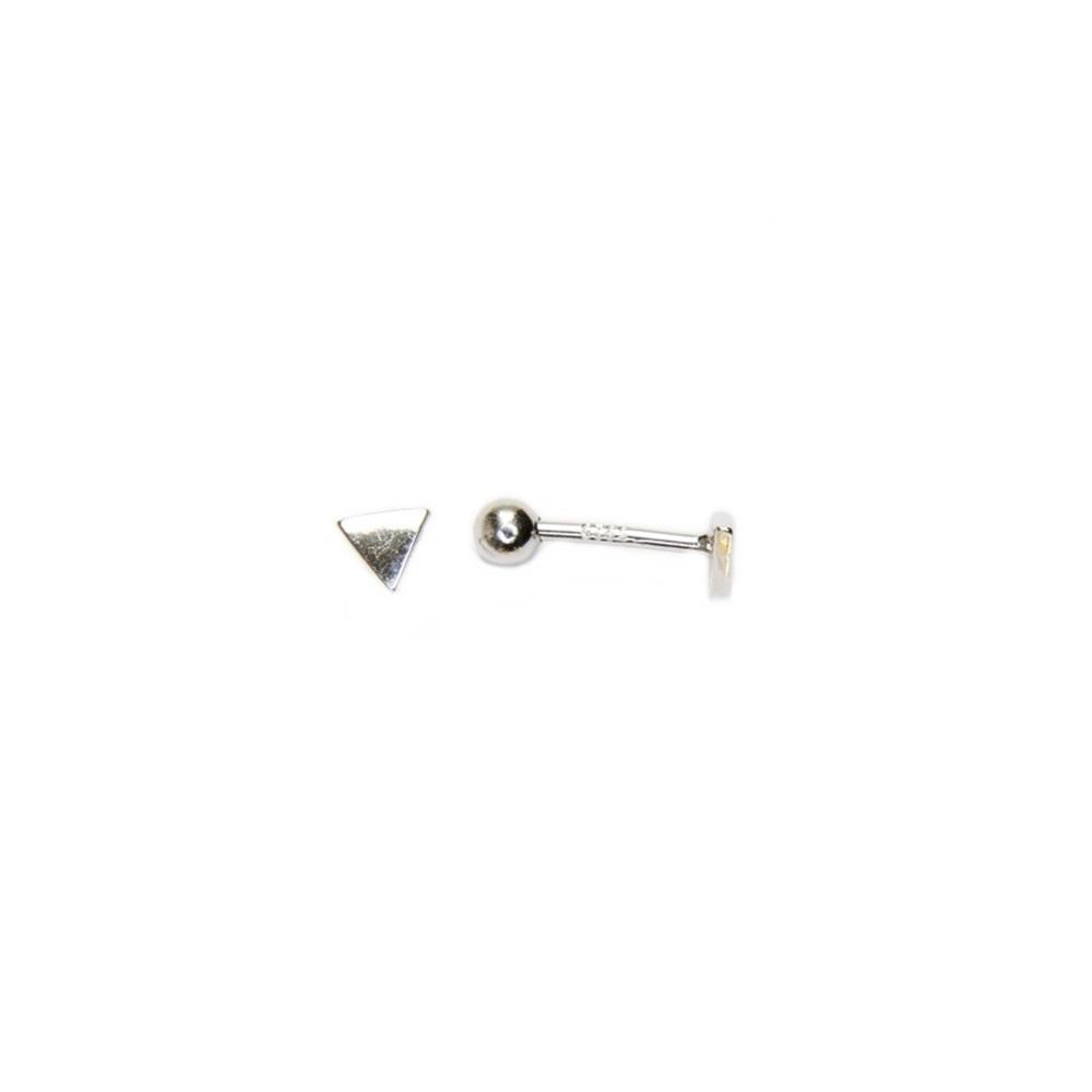 Pendientes piercing triángulo en plata