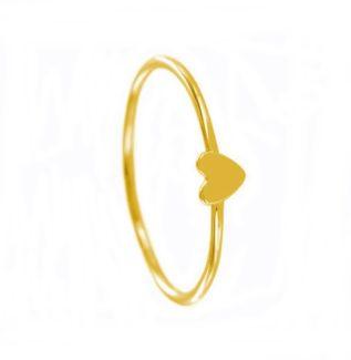 Anillo corazón plata bañada en oro