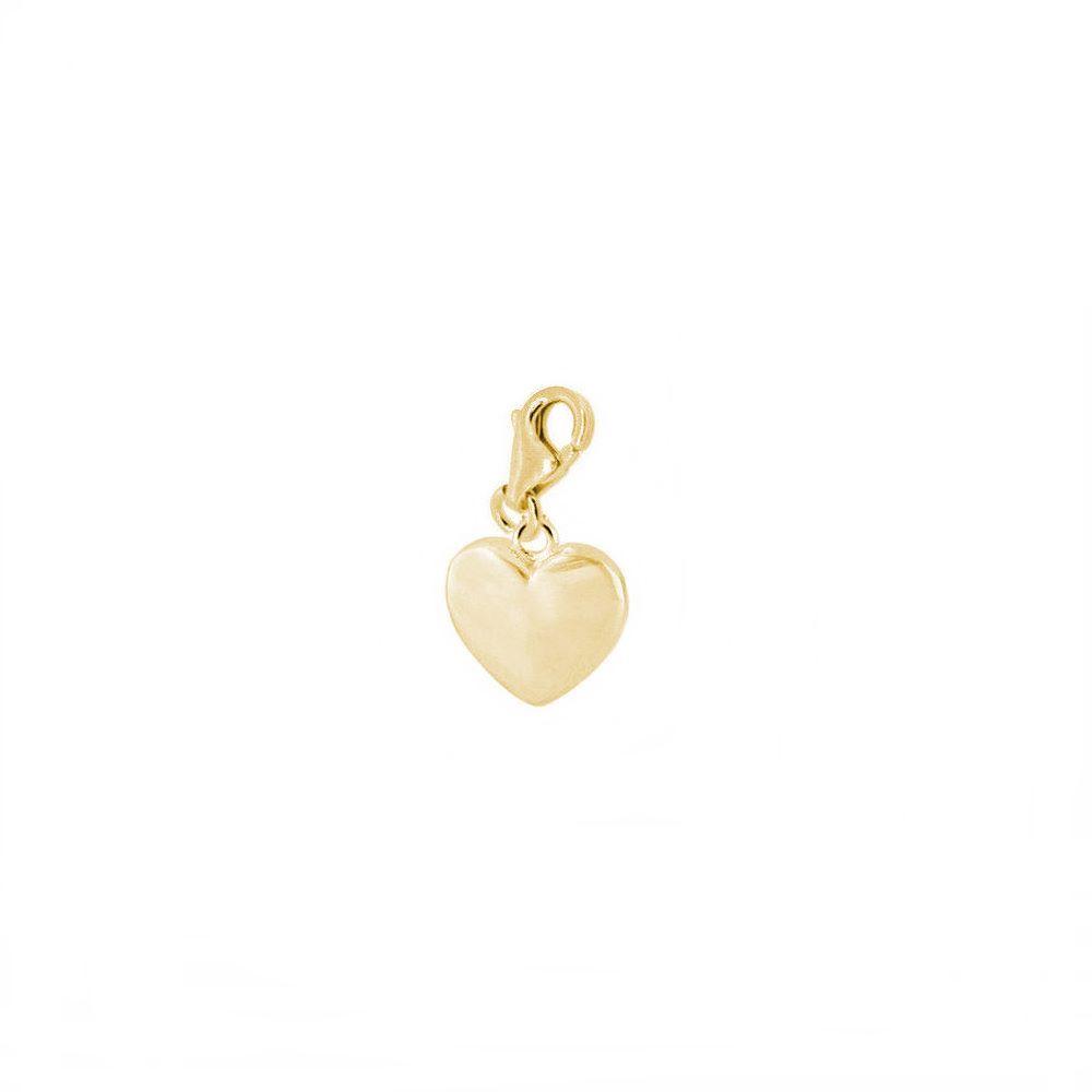 Charm corazón plata bañada en oro