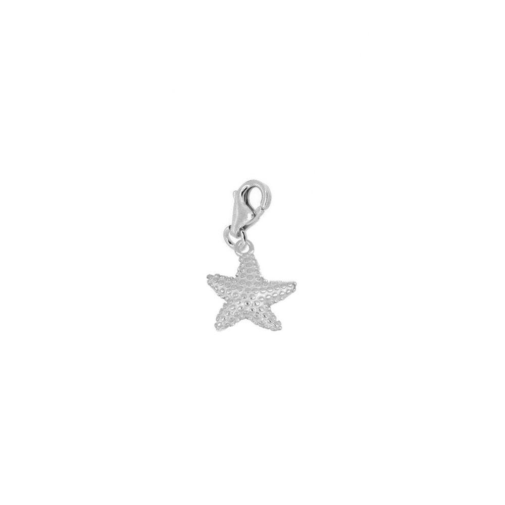 Charm estrella de mar en plata