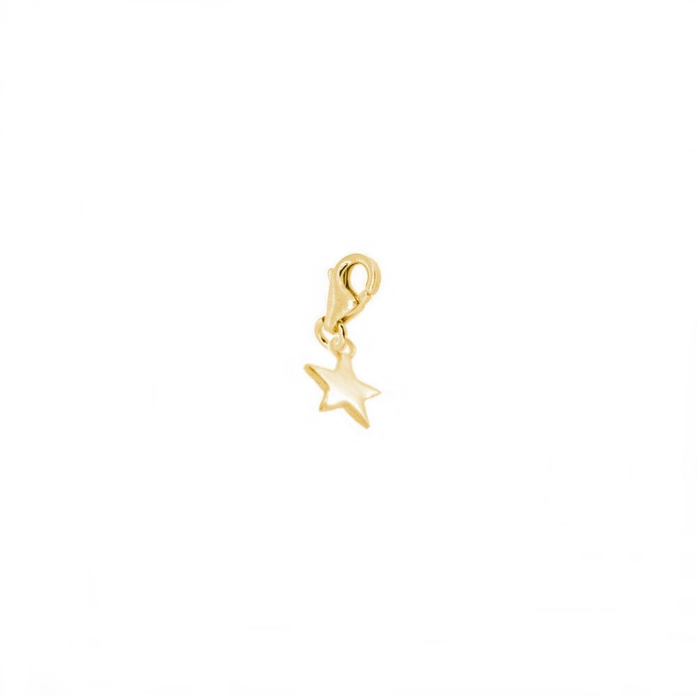 Charm estrella plata bañada en oro