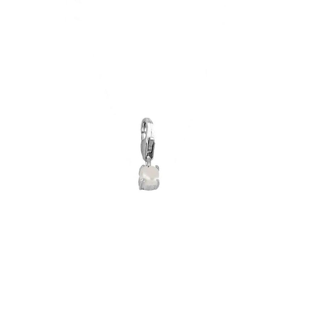 Charm perla 4mm en plata de primera ley