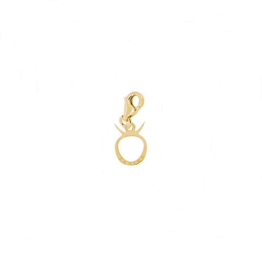 Charm signo zodiaco plata bañada en oro