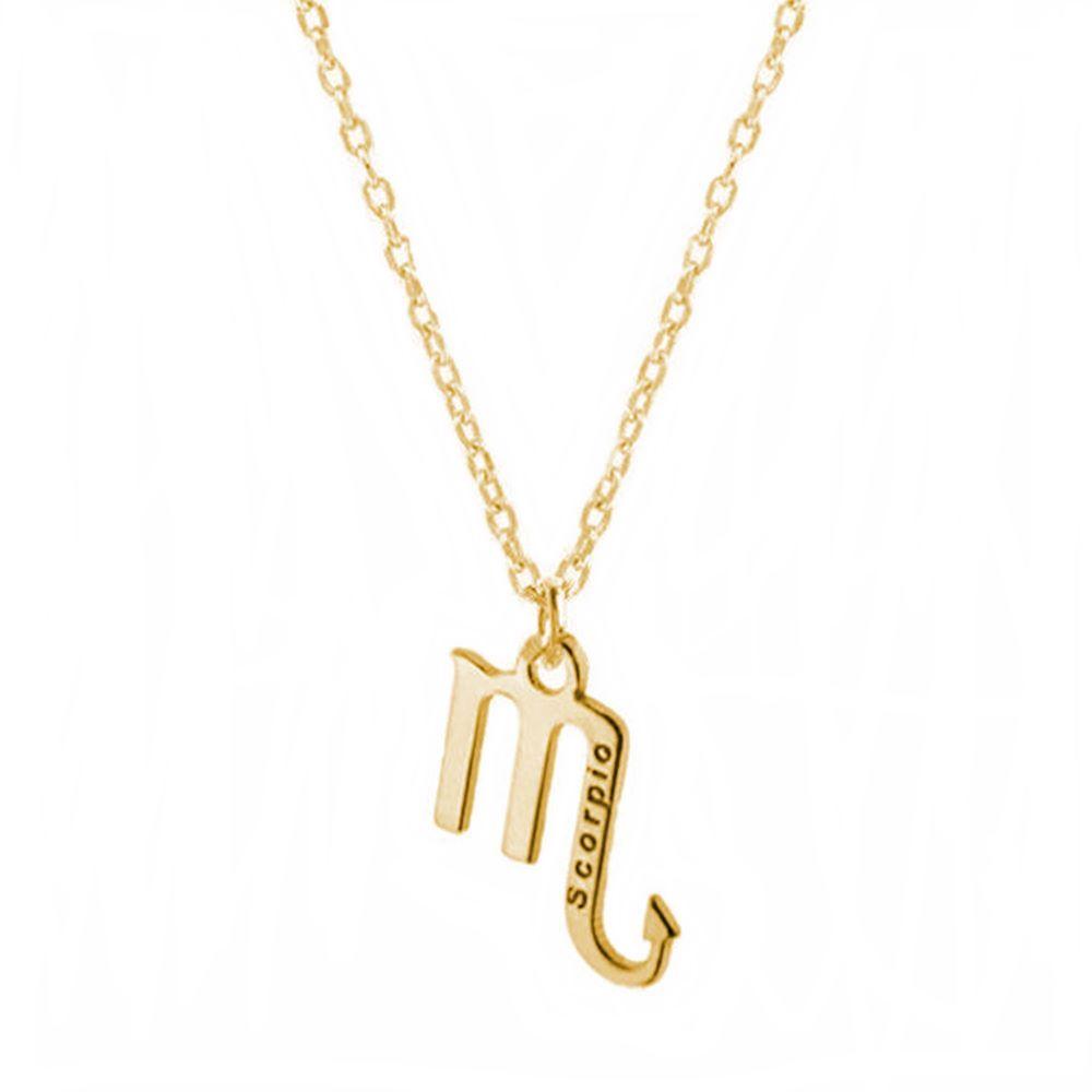 Collar escorpio plata bañada en oro