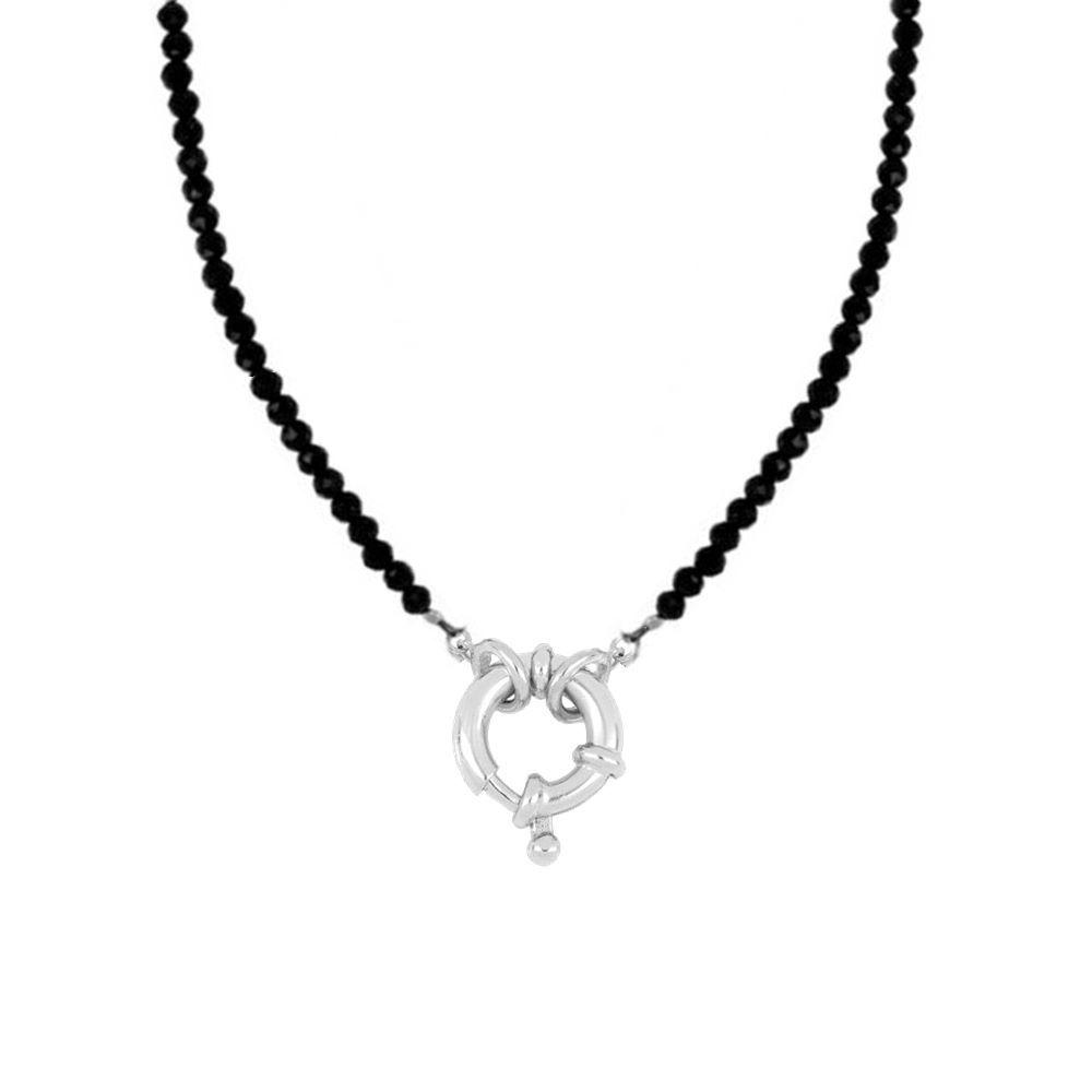 Collar espinela con reasa marinera en plata