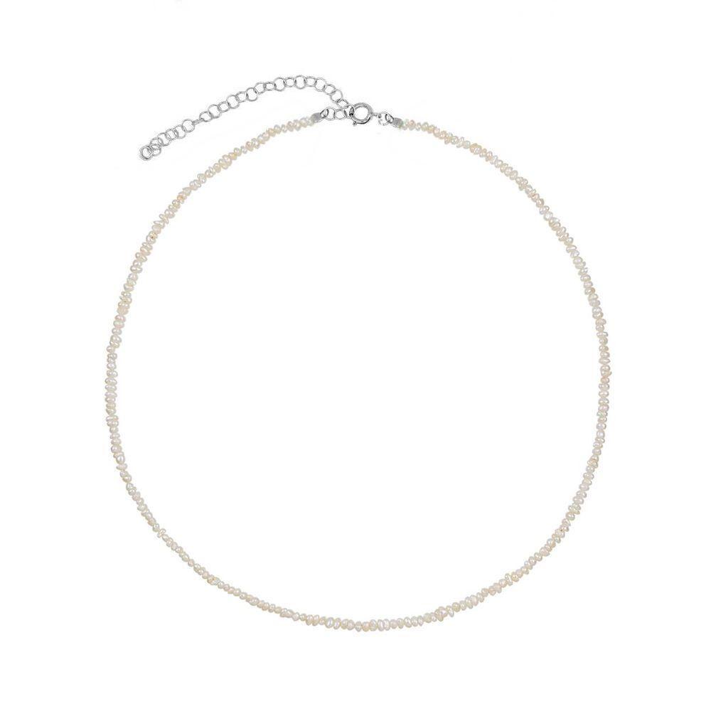 Collar perla en plata de primera ley